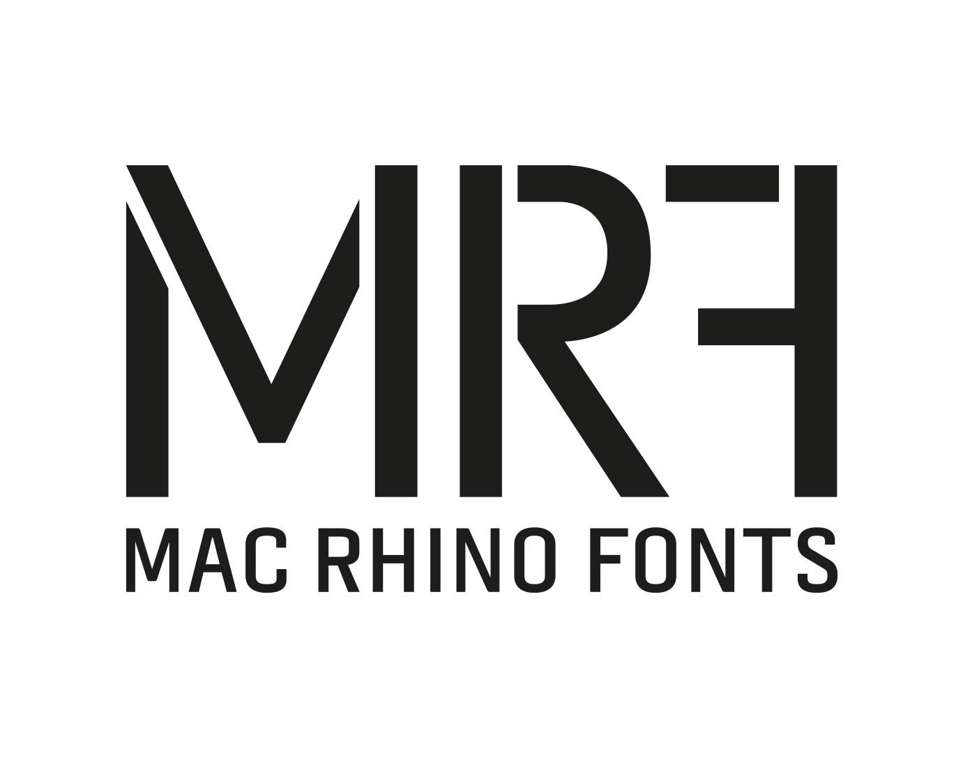 Mac Rhino Fonts